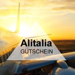 Gutschein Alitalia - 20% bei der Flug Buchung nach Italien sparen