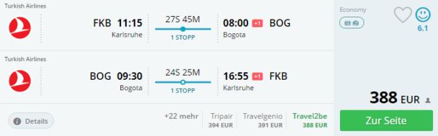 Flug ab Baden Baden nach Bogota