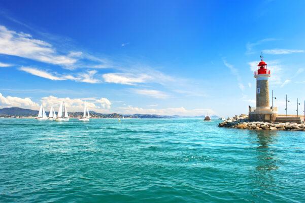 Leuchturm von St. Tropez an der Cote d'Azur