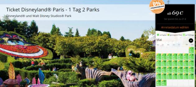 Gutschein Disneyland Paris Schnäppchen