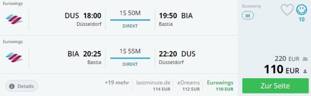 Duesseldorf nach Bastia