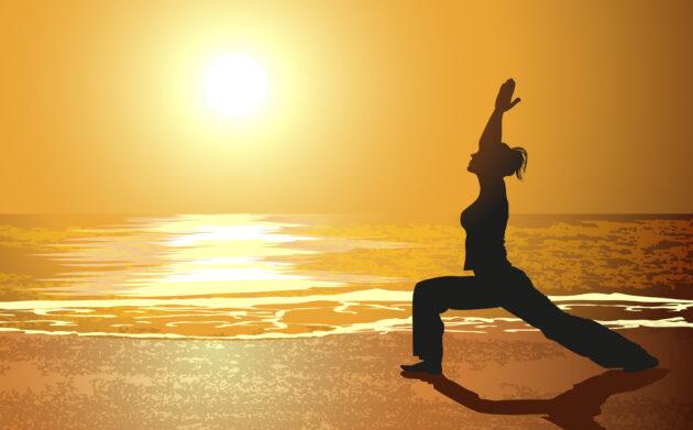 Sonnenuntergang Frau Yoga