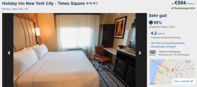 5 Tage New York Hotel mit Flug