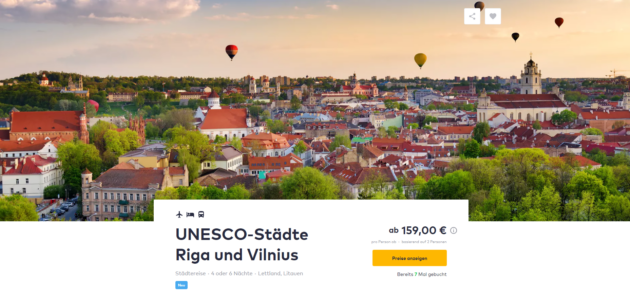 5 Tage Riga & Vilnius