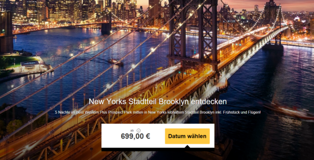 New York Reise für 6 Tage