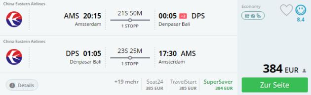 Amsterdam nach Bali