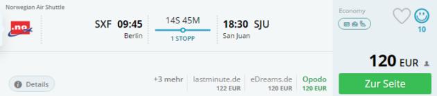 Berlin nach San Juan Flug