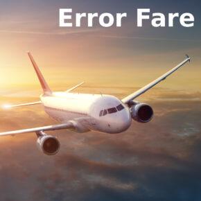 Error Fare Flug
