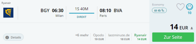 Europa Trip nach Paris
