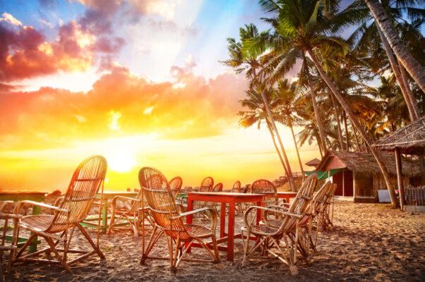 Strand Sonnenuntergang Goa