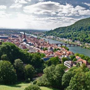 Heidelberg Blick Königsstuhl