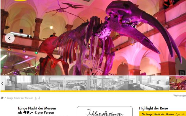 Lange Nacht der Museen Angebot