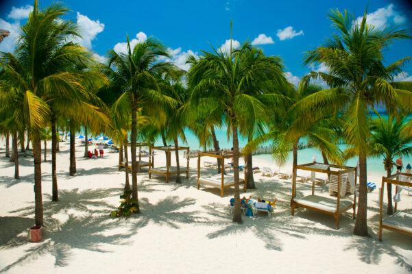 Karibischer Strand in Mexiko