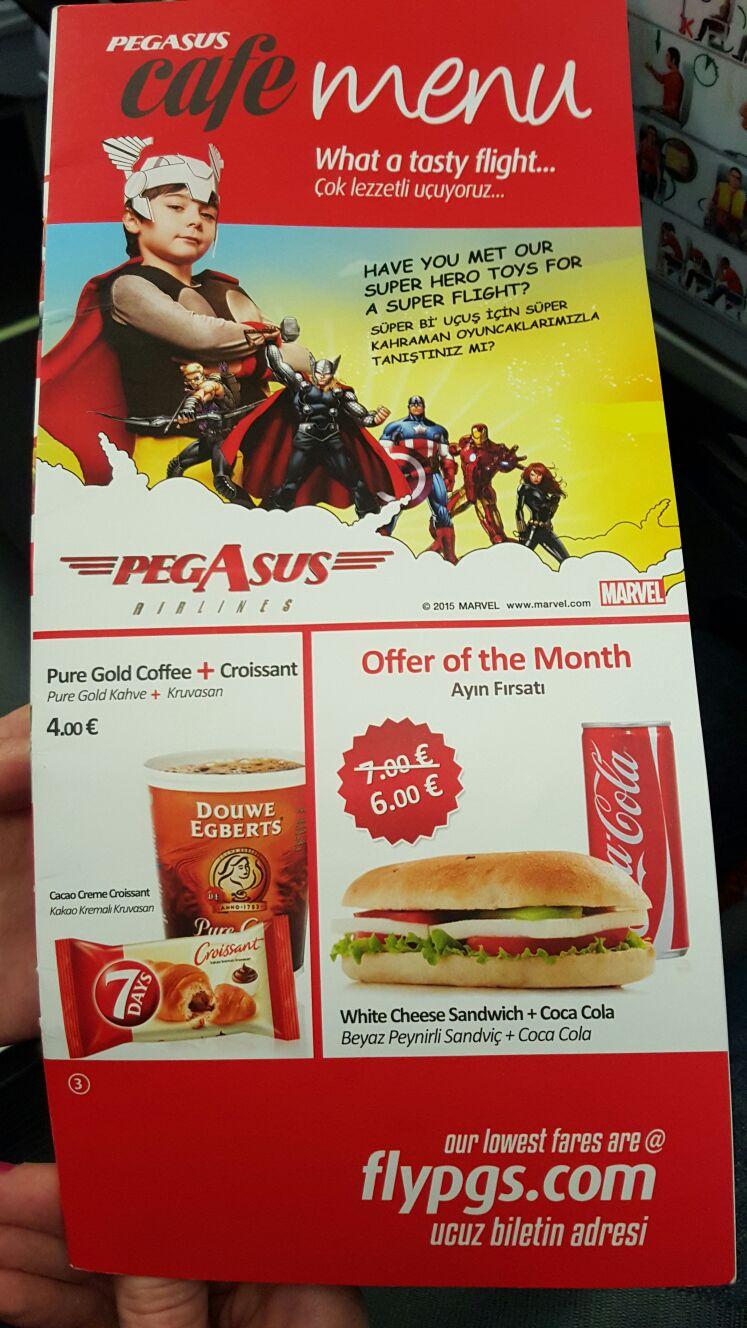 Pegasus Airlines Menü