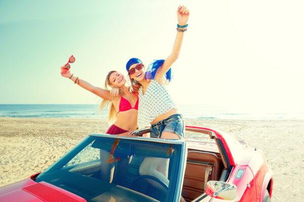 Strand Partyurlaub Auto