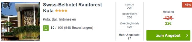Swiss Belhotel Rainforest