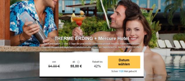 Therme Erding Angebot Hotel Eintritt