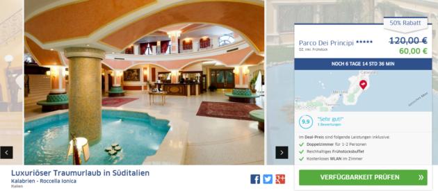 4 Tage Italien Hotel Schnäppchen