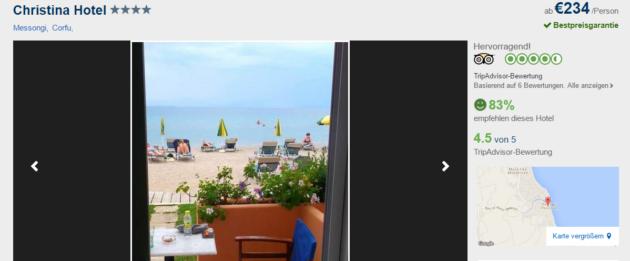 7 Tage Korfu Strandurlaub