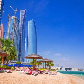 Luxus pur: 7 Tage Abu Dhabi im TOP 5* GOLD AWARD Hotel inkl. Frühstück, Flug, Transfer & Zug nur 439€