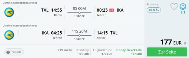 Berlin nach Tehran