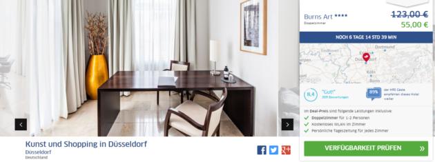 wochenendtrip 3 tage d sseldorf im tollen 4 hotel f r nur 55. Black Bedroom Furniture Sets. Home Design Ideas