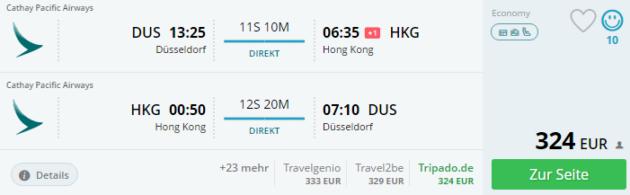 Duesseldorf nach Hong Hong
