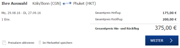 Flug Schnäppchen Phuket