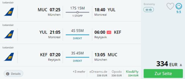 Flüge nach Montreal