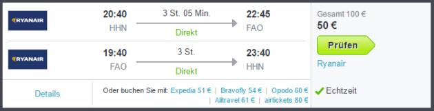 Flug nach Faro
