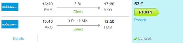 Flug FMM nach Moskau