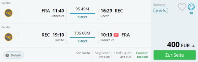 Frankfurt nach Recife