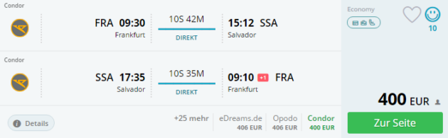 Frankfurt nach Salvador