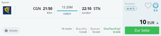 Köln nach London