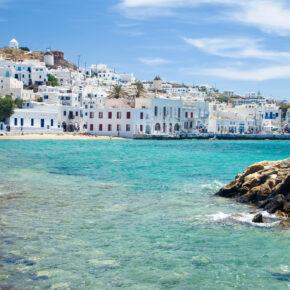 Flüge: 18 Tage Mykonos hin und zurück für nur 30 €