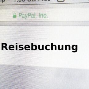 Reisebuchung mit Paypal