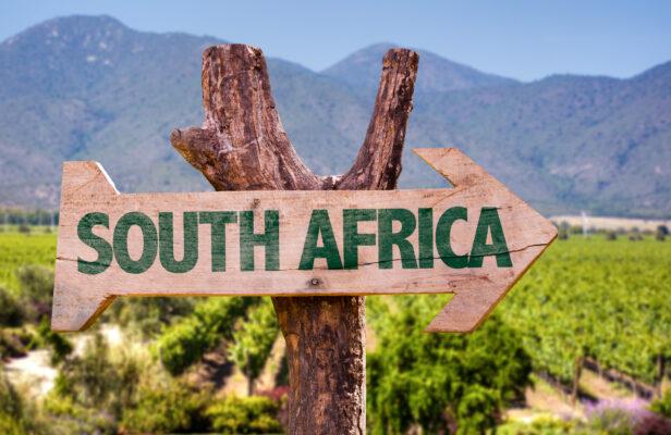 Südafrika Schild