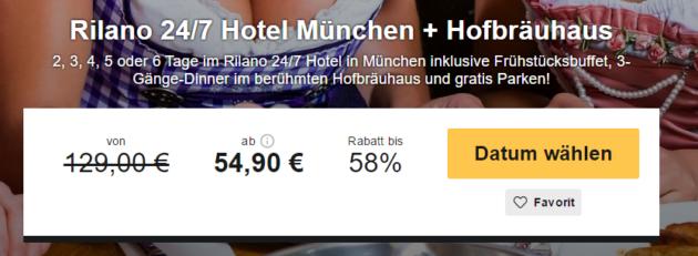 2 Tage München mit Essen im Hofbräuhaus