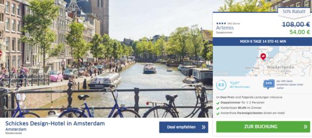 Amsterdam Wochenend Schnäppchen
