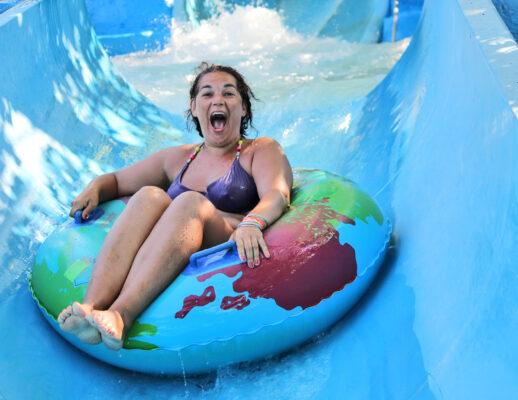 Aquapark Wasserrutsche Spaß
