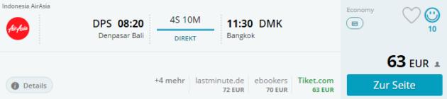 Bali nach Bangkok