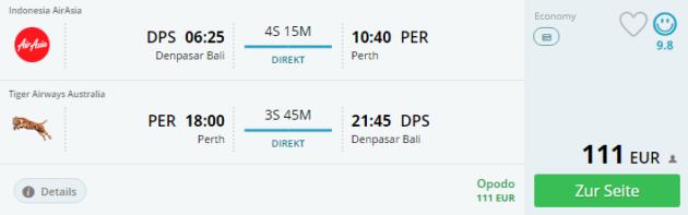 Bali nach Perth