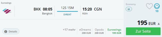 Bangkok nach Köln