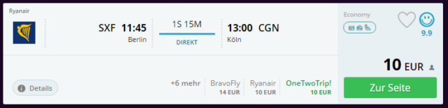 Berlin nach Köln
