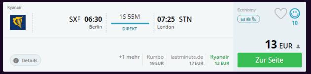 Berlin nach London