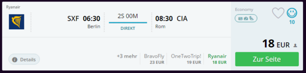 Berlin nach Rom