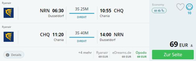 Duesseldorf nach Chania