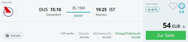 Duesseldorf nach Istanbul