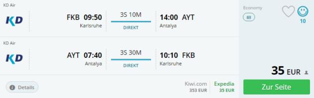 Flüge Türkei Charterflug