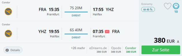 Frankfurt nach Halifax
